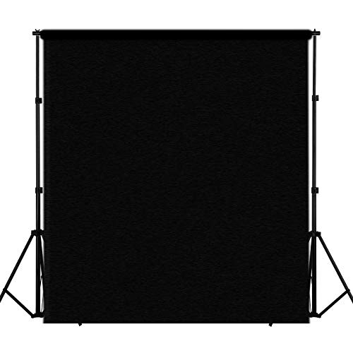 (Mekingstudio 60'' X 40'' / 1.5 x 1M Photo Studio Collapsible Fabric Texture Felt Blanket Photography Backdrops Photography Props Background Cloth - Black)