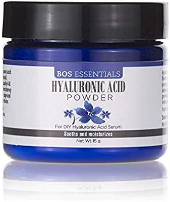Pure Hyaluronic Acid Serum Powder | 100% NATURAL | High Molecular Weight | Locks in moisture and creates full, youthful skin - Makes 50+ ounces of anti aging Hyaluronic Acid serum!