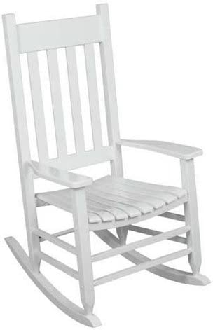 Outdoor Rocking Chair White The Solid Hardwood Chairs Provide Comfortable Seating on Patio or Deck. Guaranteed. The Porch Rocker
