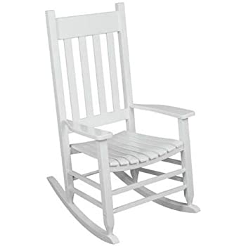 Amazon Com Outdoor Rocking Chair White The Solid