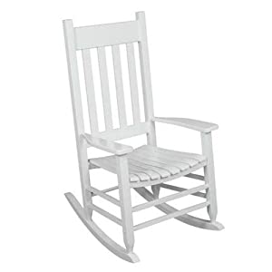 Outdoor Rocking Chair White The Solid Hardwood Chairs Provide Comfortable  Seating On Patio Or Deck. Guaranteed. The Porch Rocker With A Wide Wood  Seat And ...