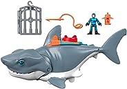 Tubarão Mega Mordida, Imaginext, Mattel, Multicolorido Mattel Multicolorido