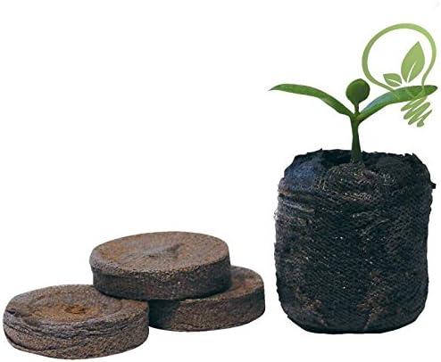 Paquete de 100 unidades de tabletas de turba de 41 mm con nutrientes para jardinería de Jiffy