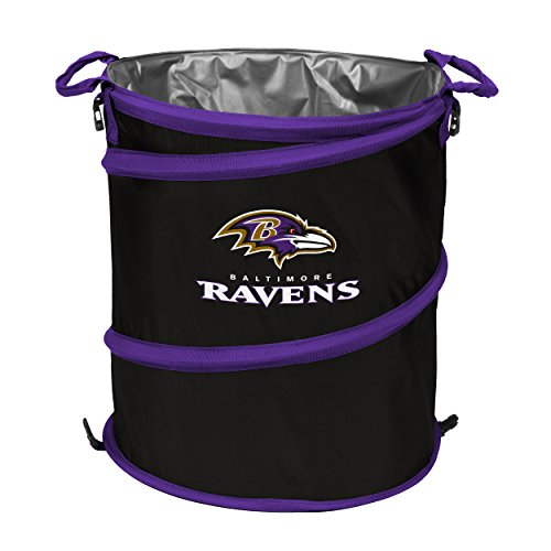 Logo Brands NFL Baltimore Ravens 3-in-1 Cooler