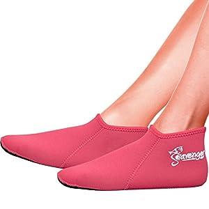 Seavenger Wetsuits Premium Neoprene Water Fin Sock 3mm (Pink) - S