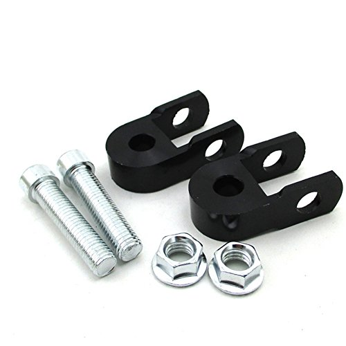 TC-Motor CNC Aluminum Black Shock Absorber Height Extension Extender Riser Taper For CRF50 TTR50 DRZ110 Dirt Pit Trail Motor Bike Motorcycle/ATV ()