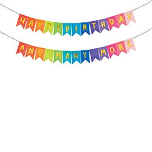Happy Birthday Reversible Gold Fold Banner