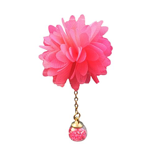 Glumes 1pc Camellia Flower Air Freshener for Cars Fragrant Perfume Clip with Fragrant Balm Attractive design, Fashion and beauty. (red)