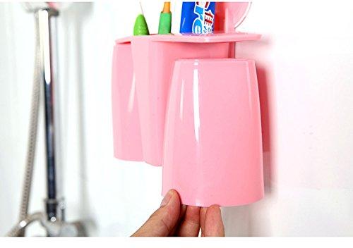 comfspo plástico soporte para cepillos de dientes con ventosa de baño de almacenamiento organizador para Dental Suministros, pasta de dientes y cepillos de ...