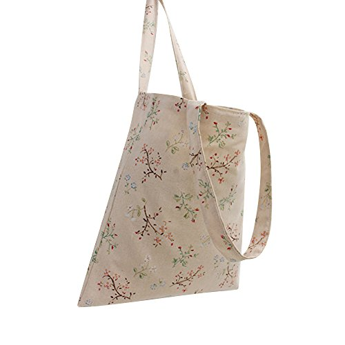 Zip Oath Women's Fruit Print L067 song Floral Tote Cartoon branch Bag flower Canvas OOSw7nrxF