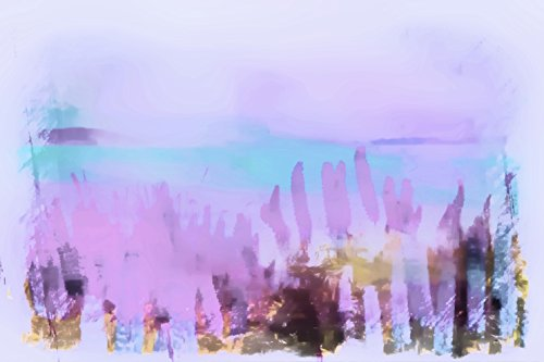Coastal Wildflowers - Coastal Wildflowers, Ocean, Aqua, Pink, Coastal Art, Abstract, Beach Art, Museum Quality Poster Print