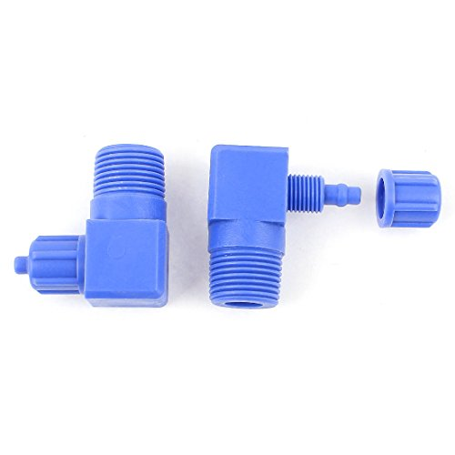 UPC 711331598585, 2Pcs 3/8BSP Pneumatic Elbow Fitting Air Hose Quick Connector 6mm OD