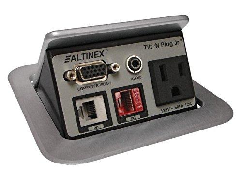 Altinex Tilt N Plug Jr. Tabletop Interconnect Box **TNP-121** Silver Power Data Center