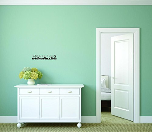 Design with Vinyl Moti 2726 2 Decal Wall Sticker : House Rules Story Telling Kids Teens Boy Girl Kids Mom Dad Family Quote 12 Inches x 30 Inches