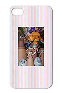 Floral Sweet Art Design Painting Drawing Garden Cute Adorable Babies Red For Iphone 4s QuotMy Garden Babiesquot Protective Case