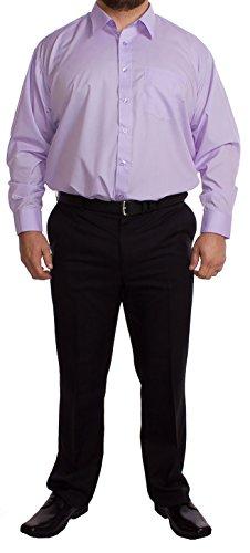 Rael Brook grande da uomo a maniche lunghe camicia lilla 48,3cm 50,8cm 53,3cm 55,9cm 58,4cm