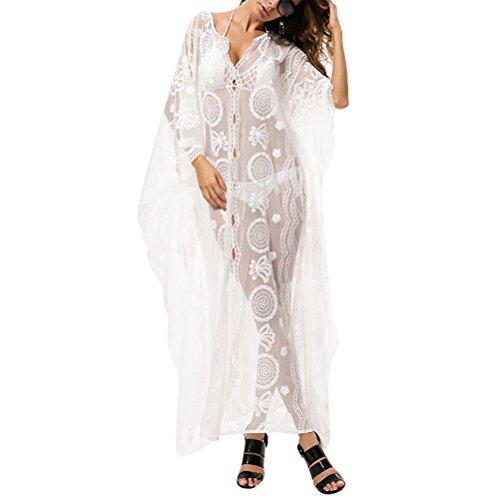 Copertura Da Avvolgono Zhuhaitf Maxi Costume Beachwear Signore Up Kaftani Abito Modo Bagno Camicetta Stampato Di Lungo E qgOYwF