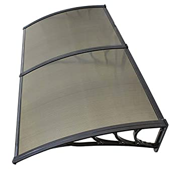 Image of akasaw98 80x 40 inch Window Canopy Awning Polycarbonate Front Door Patio Cover Outdoor Home and Kitchen