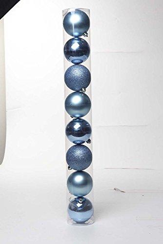 Bola De Natal P/Árvore C/8 Pçs 5Cm Azul Claro