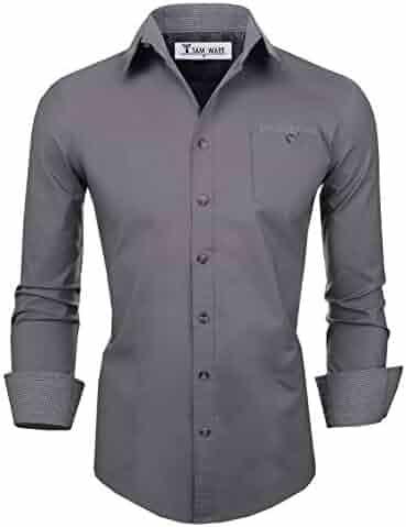 4fa3552be Shopping Greys - Casual Button-Down Shirts - Shirts - Clothing - Men ...