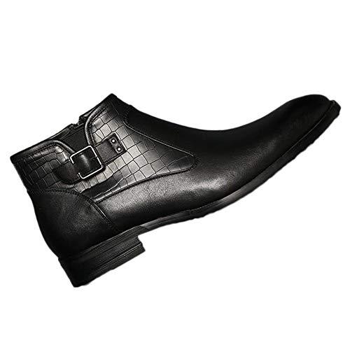 Chelsea Gli Zipper Martin Scarpe Per Side Gazzetta Yra Stivali Uomini Lavoro Classico Casuale Punta Abito Black Rotonda Stivaletti Boots TdxIqxzW