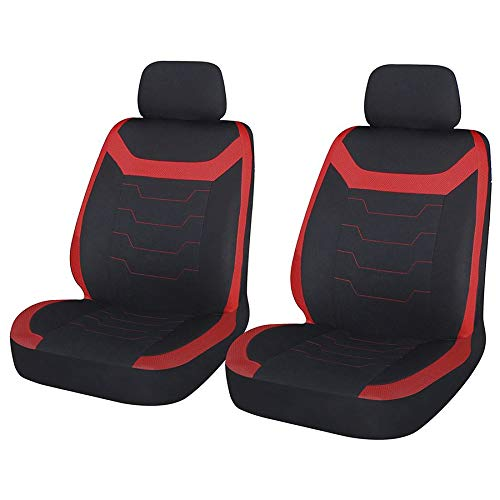 UKB4C Red Black Modern Look Pair Front /& Rear Car Seat Covers