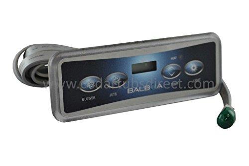 Tub Panel Hot Control (Northern Lights Group Balboa VL401 LCD Light Duplex Jets 4-button Panel)