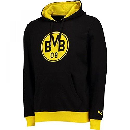 2017-2018 Borussia Dortmund Puma Badge Hoodie (Black)