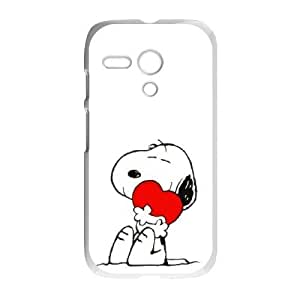 Motorola Moto G Phone Cases White Charlie Brown and Snoopy BOK486436