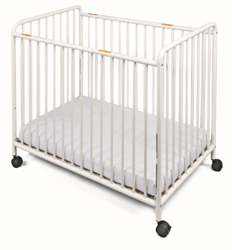 (Foundations Compact Steel Non-Folding Crib, Slatted Ends Chelsea)