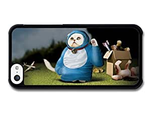 MMZ DIY PHONE CASEFunny Cosmic Cat In A Blue Costume case for ipod touch 5