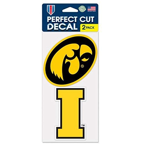 Iowa Hawkeyes Auto Decals 2 Pack - 4