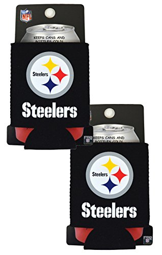Nfl Personalized Beer - Official National Football League Fan Shop Authentic 2-Pack NFL Insulated 12 Oz Can Cooler (Pittsburgh Steelers)