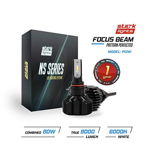 Stark N2S Series [Upgraded] 80W Fog Light Conversion Kit - 8000LM - 6000K Crystal White - Bulb Size: P13W