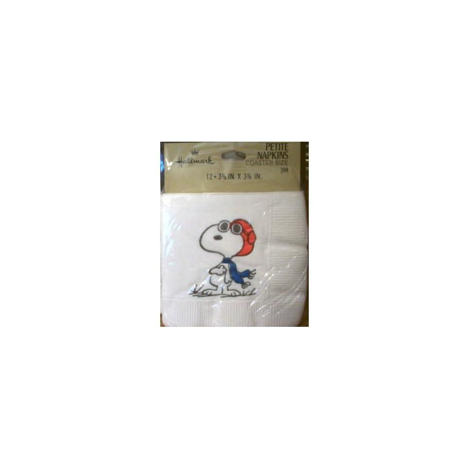 Vintage Hallmark Peanuts Snoopy Flying Ace Pilot Napkins