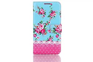 Youvogue Flip Flowers Leather Phone Case for Samsung Galaxy S5 I9600 (Flower-6)