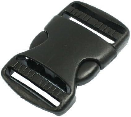 1 1//2 Replacement Belt Connecting Black Plastic Quick Release Buckle