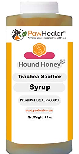 PawHealer Hound Honey: Trachea Soother Syrup - 150 ml (5 fl oz) - Natural Herbal Remedy for Symptoms of Collapsed Trachea - Tastes Good - Easy to Administer (Cough Medicine For Dogs With Collapsed Trachea)