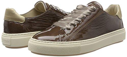 Mujer O'polo Marc Sneaker dark Para 70714053501400 Zapatillas Taupe Marrón TqX1A6