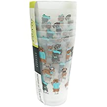 Cute Multi Dog Breeds in Attire Set of 6 Outdoor Novelty Ice Tea Drink-ware Cups (30 oz)