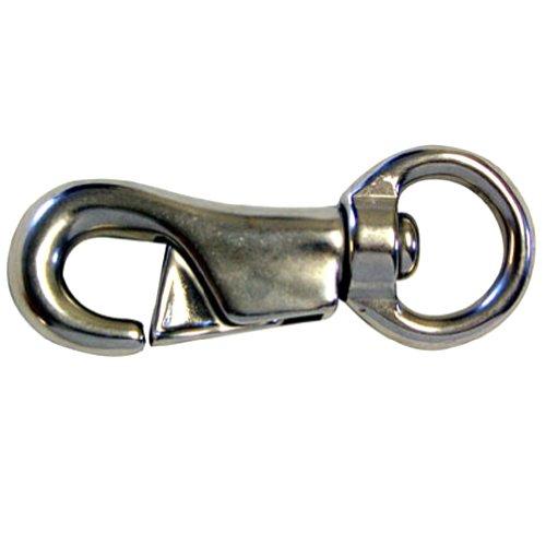 Intrepid International Stainless Steel #3142 Bull Snap, 1 x 4-Inch