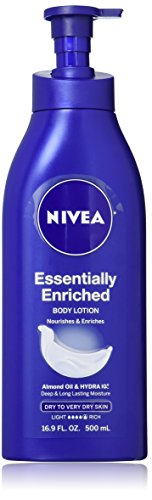 Nivea Essentially Enriched Daily Lotion for Dry to Very Dry Skin 16.9 Ounce (Pack of 3)