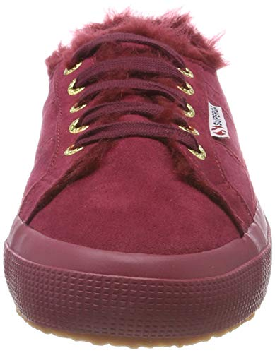 2750 Rot Full Superga Red 972 Trainers Synshearlingw Women's Bordeaux FwXqIq5Ux