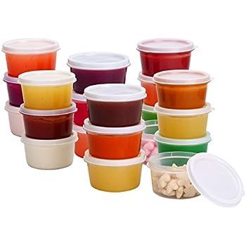 Greenco Mini Food Storage Containers, Condiment, And Sauce Containers, Baby  Food Storage And