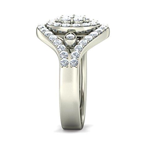 18K Or Blanc, 1.14carat Diamant Taille ronde (IJ | SI) Cocktail en diamant