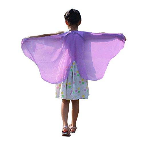 iLXHD Child Kids Boys Girls Bohemian Butterfly Print Shawl Pashmina Costume Accessory