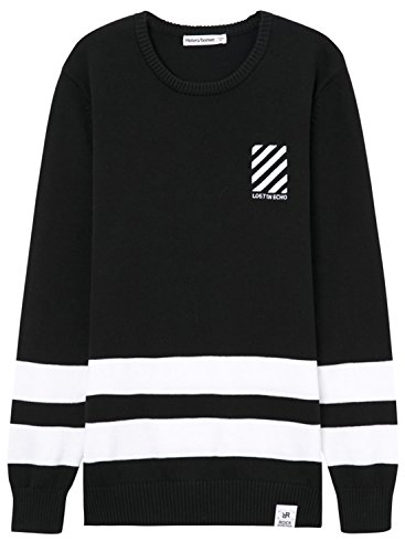meters-bonwe-mens-round-neck-striped-pullover-knitted-sweater-black-xl
