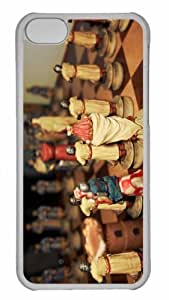 Customized iphone 5C PC Transparent Case - Democracy Chess Personalized Cover