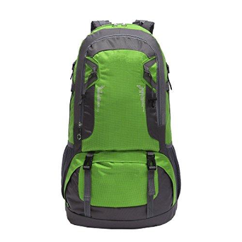 Yy.f Nuevos Hombres Y Mujeres Mochila Bolsa De Gran Capacidad 60L Al Aire Libre Impermeable Viaje De Deportes Mochila De Montaña Multi-color Green