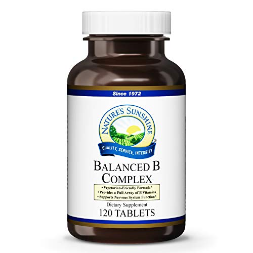 Natures Sunshine Balanced B Complex, 120 Tablets, B Complex Vitamins to Support Digestion and Nervous System Health with Vegetarian Formula